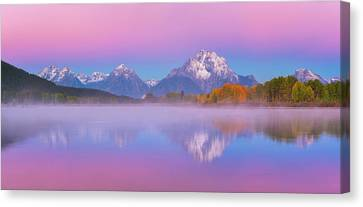 Canvas Print featuring the photograph Belt Of Venus At Oxbow Bend by Darren White
