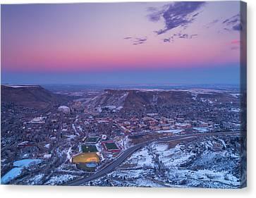 Belt Of Venus Over Golden Colorado Canvas Print by Darren  White