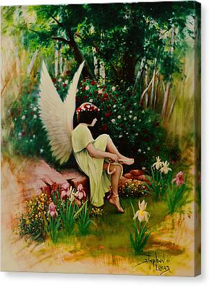 Beltaine Angel Canvas Print by Stephen Lucas