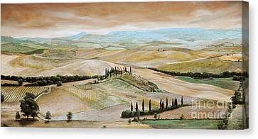 Belvedere - Tuscany Canvas Print by Trevor Neal