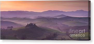 Belvedere And Tuscan Countryside Canvas Print by Brian Jannsen
