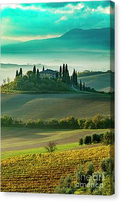 Canvas Print featuring the photograph Belvedere - Tuscany II by Brian Jannsen