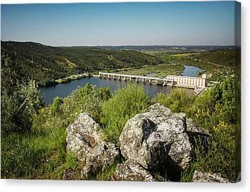 Belver Dam Canvas Print