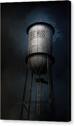 Bemis Water Tower Canvas Print by Jai Johnson