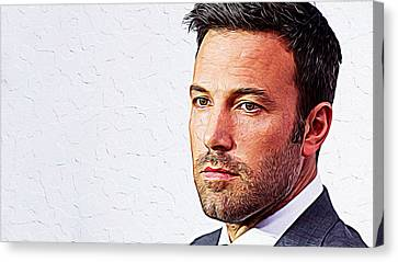Ben Affleck Canvas Print by Iguanna Espinosa
