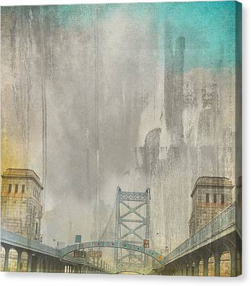Ben Franklin Bridge Philadelphia Pa Canvas Print by Brandi Fitzgerald