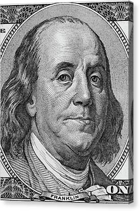 Ben Franklin Canvas Print by Les Cunliffe