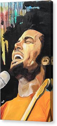 Ben Harper Canvas Print by Matt Burke
