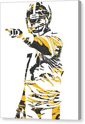 Ben Roethlisberger Pittsburgh Steelers Pixel Art 3 Canvas Print