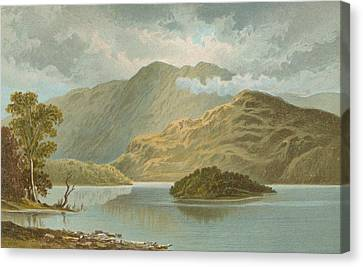 Ben Venue And Ellen's Isle   Loch Katrine Canvas Print by English School