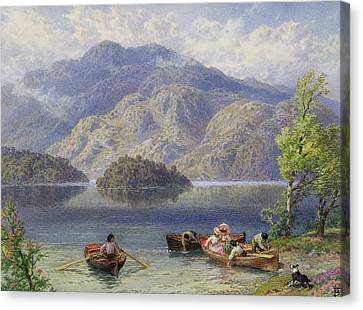 Ben Venue And Ellen's Isle, Loch Katrine Canvas Print by Myles Birket Foster