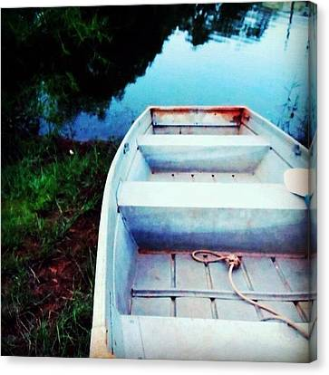 Rusted Boat Canvas Print by Jen McKnight