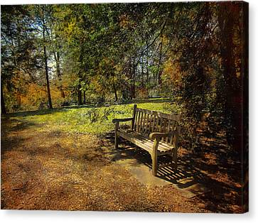 Canvas Print featuring the photograph Bench by John Rivera