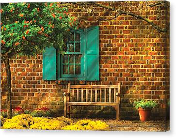Bench - Please Have A Seat Canvas Print by Mike Savad