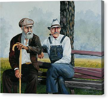 Bench Warmers Canvas Print