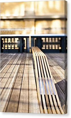 Benches At The High Line Park Canvas Print by Eddy Joaquim
