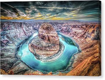 Bend In The River Canvas Print by Mark Dunton