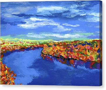 Bend In The River Canvas Print by Stephen Anderson