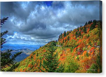 Bend In The Road Blue Ridge Parkway Art Canvas Print