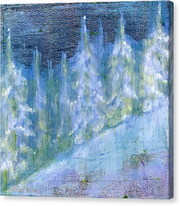 Bend Snow Trees Canvas Print by Patt Nicol