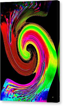 Bending And Blending Color Canvas Print