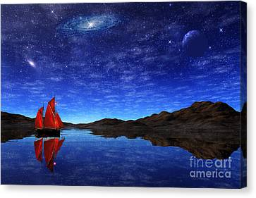 Beneath A Jewelled Sky Canvas Print by John Edwards