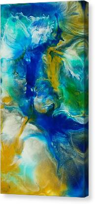 Canvas Print featuring the mixed media Beneath  by Christie Minalga