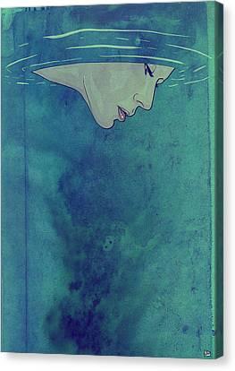 Beneath Canvas Print by Giuseppe Cristiano