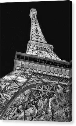 Eifel Canvas Print - Beneath The Eiffel Tower by Susan Candelario