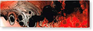 Beneath The Fire - Red And Black Painting Art Canvas Print by Sharon Cummings