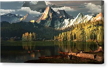 Beneath The Gilded Crowns Canvas Print by Dieter Carlton