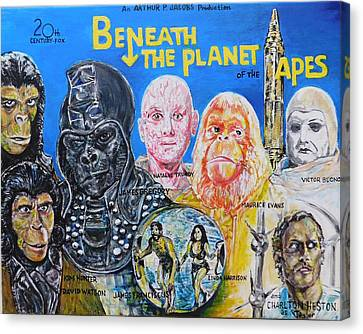 Beneath The Planet Of The Apes - 1970 Lobby Card That Never Was Canvas Print