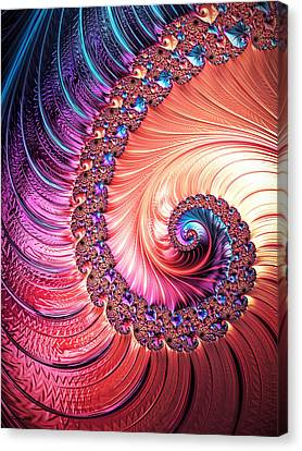 Beneath The Sea Spiral Canvas Print by Kathy Kelly