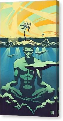 Beneath The Surface Canvas Print by Patrick Horn