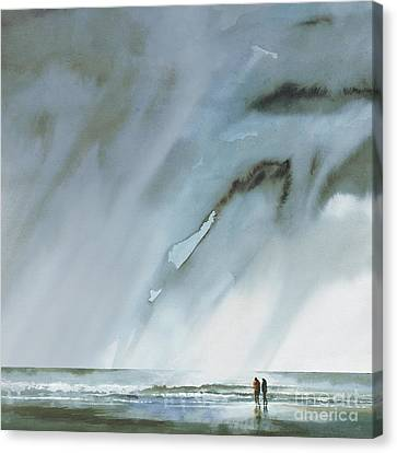 Beneath Turbulent Skies Canvas Print