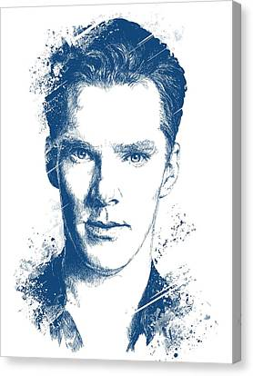Hoodie Canvas Print - Benedict Cumberbatch Portrait by Chad Lonius