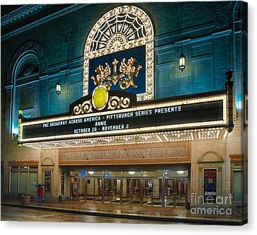 Benedum Center Canvas Print by Amy Cicconi