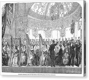 Benefit Concert, 1853 Canvas Print by Granger