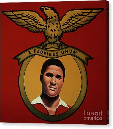 Pele Canvas Print - Benfica Lisbon Painting by Paul Meijering