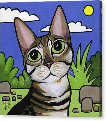 Bengal Beauty Canvas Print by Leanne Wilkes