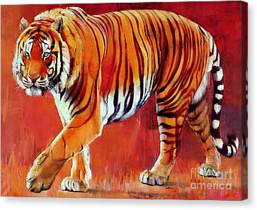 Bengal Tiger  Canvas Print by Mark Adlington