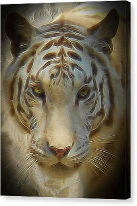 Bengal Tiger On The Prowl Canvas Print by Thom Zehrfeld