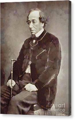 Benjamin Disraeli, Prime Minister United Kingdom By Sarah Kirk Canvas Print