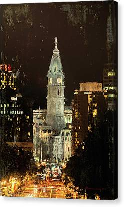 Benjamin Franklin Parkway Canvas Print by Marvin Spates