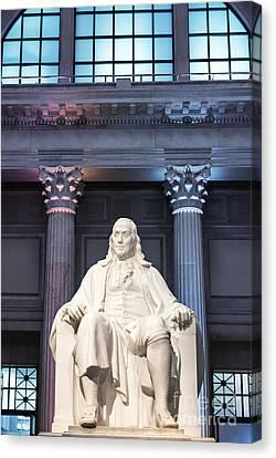 Benjamin Franklin Statue Canvas Print by John Greim