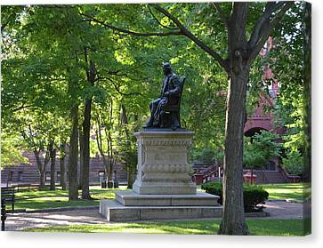 Benjamin Franklin - University Of Pennsylvania Canvas Print by Bill Cannon