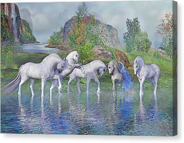 Benjamin's Velveteen Horses Canvas Print by Betsy Knapp