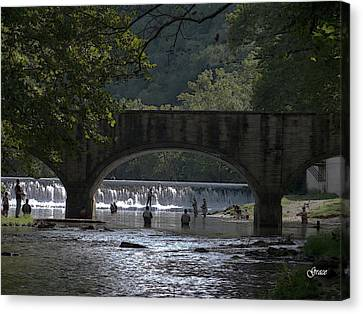 Bennett Springs Bridge Canvas Print
