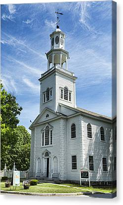 Christian Sacred Canvas Print - Bennington First Congregational Church by Stephen Stookey
