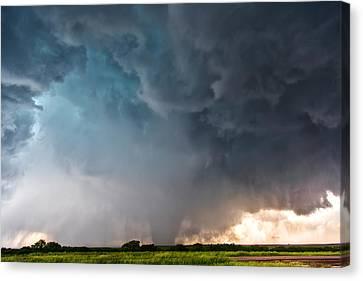 Canvas Print featuring the photograph Bennington Kansas Tornado Structure by James Menzies